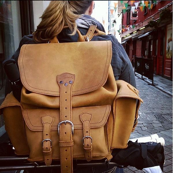 Medium Front Pocket Backpack in Tobacco Saddleback Leather