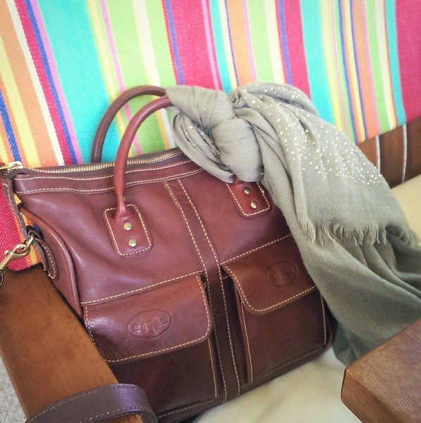 JW Hulme Mini Excursion Tote in Oxblood