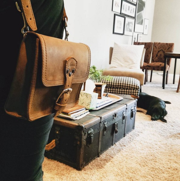 Saddleback Leather Book Bag In Tobacco The Perfect