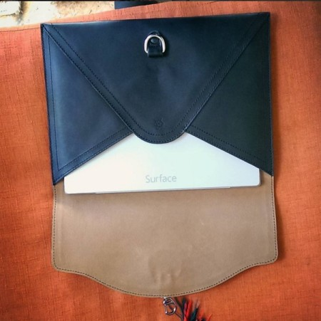 The Perfect Leather Bag Black Envelope Clutch Saddleback Leather 1