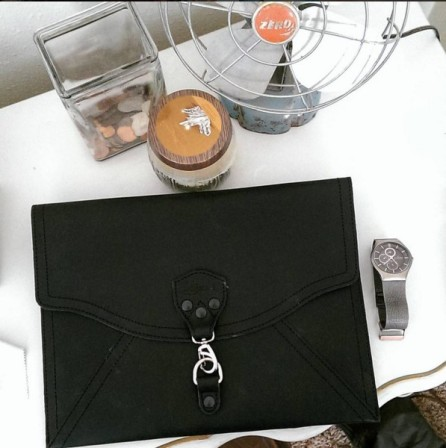 The Perfect Leather Bag Black Envelope Clutch Saddleback Leather 2