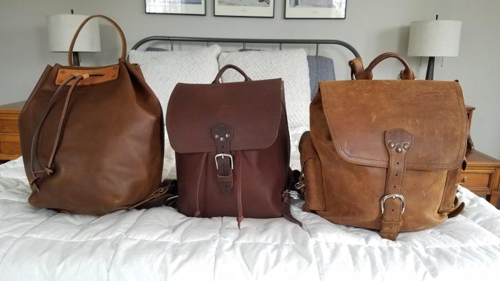 20190223_151342Saddleback Leather Bucket Backpack, Drawstring Backpack, Medium Simple Backpack