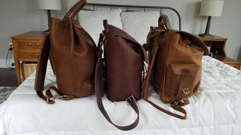 Saddleback Leather Bucket Backpack, Drawstring Backpack, Medium Simple Backpack